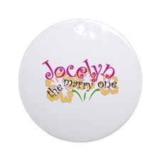 Jocelyn Ornament (Round)