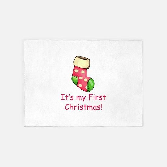 First Christmas 5'x7'Area Rug