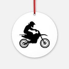 Motocross racing Ornament (Round)