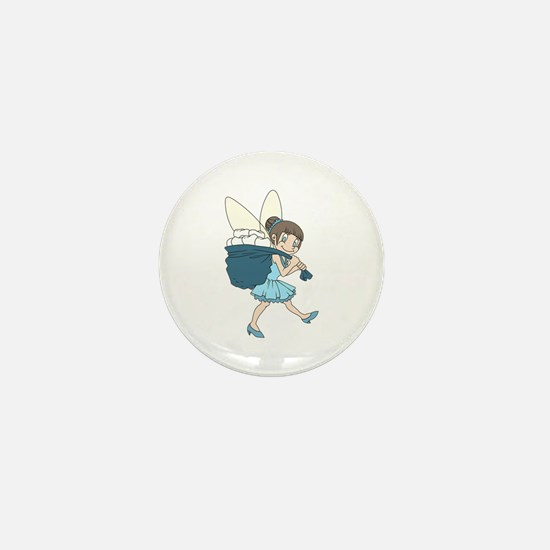 TOOTH FAIRY AT WORK Mini Button