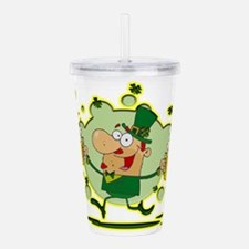 Leprechaun and Two Bee Acrylic Double-wall Tumbler
