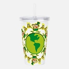 Leprechauns and Beer Acrylic Double-wall Tumbler