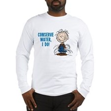 The Peanuts: Conserve Water Long Sleeve T-Shirt