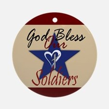 God Bless Soldiers Ornament (Round)