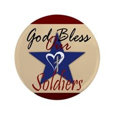 "God Bless Soldiers 3.5"" Button"