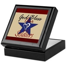 God Bless Soldiers Keepsake Box