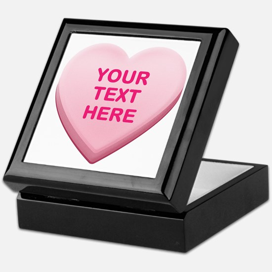 Pink Custom Candy Heart Keepsake Box