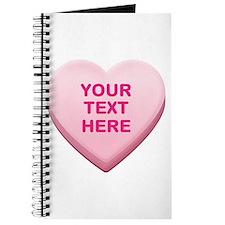 Pink Custom Candy Heart Journal