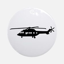 Helicopter pilot Ornament (Round)