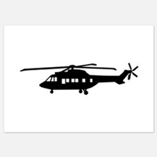 Helicopter pilot 5x7 Flat Cards