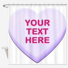Purple Custom Candy Heart Shower Curtain