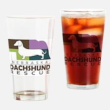 New NDR logo - white dog Drinking Glass