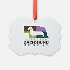 New NDR logo - white dog Ornament