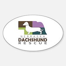 New NDR logo - white dog Sticker (Oval)