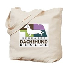 New NDR logo - white dog Tote Bag