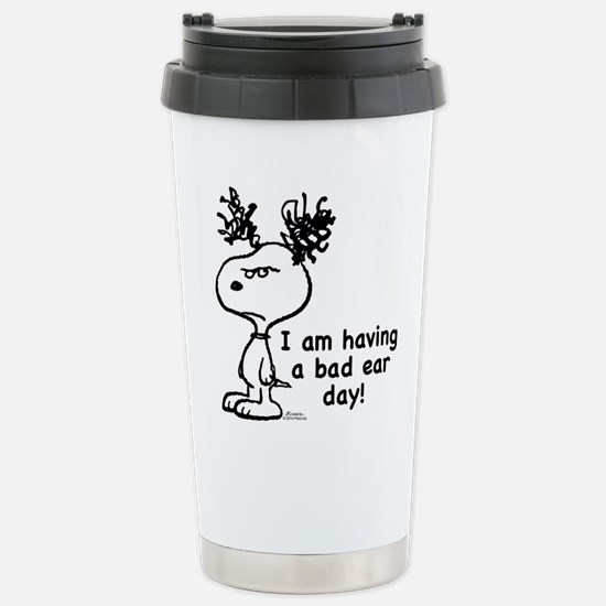 Snoopy: Bad Ear Day Stainless Steel Travel Mug