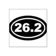 """Cute 26.2 Square Sticker 3"""" x 3"""""""