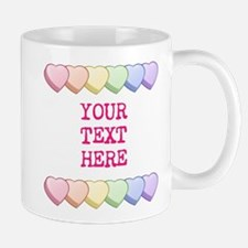 Custom Rainbow Candy Hearts Mug