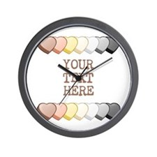 Bear Pride Custom Candy Hearts Wall Clock