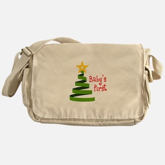 BABYS FIRST CHRISTMAS Messenger Bag