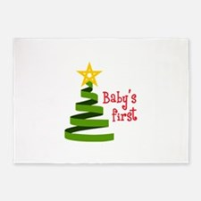 BABYS FIRST CHRISTMAS 5'x7'Area Rug