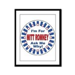 Mitt Romney for President Framed Panel Print