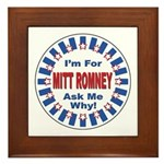 Mitt Romney for President Framed Tile