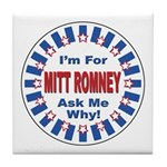 Mitt Romney for President Tile Coaster