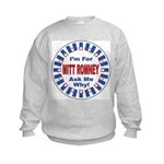 Mitt Romney for President (Front) Kids Sweatshirt