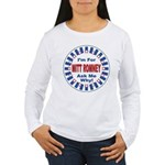 Mitt Romney for President (Front) Women's Long Sle