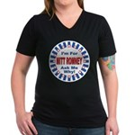 Mitt Romney for President (Front) Women's V-Neck D