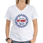 Mitt Romney for President (Front) Women's V-Neck T