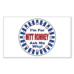 Mitt Romney for President Rectangle Sticker