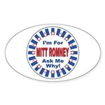 Mitt Romney for President Oval Sticker