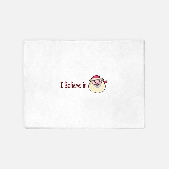 I Believe In Santa 5'x7'Area Rug
