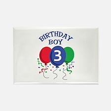 BIRTHDAY BOY THREE Magnets