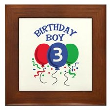 BIRTHDAY BOY THREE Framed Tile