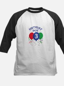 BIRTHDAY BOY THREE Baseball Jersey