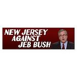 New Jersey Against Bush Bumper Sticker