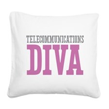 Telecommunications DIVA Square Canvas Pillow