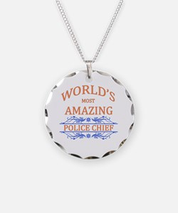 Police Chief Necklace Circle Charm