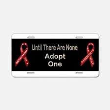 Support Animal Rescue! Aluminum License Plate