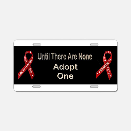 Support Animal Rescue! Aluminum License Plate