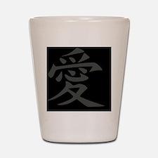 Love - Japanese Kanji Script Shot Glass