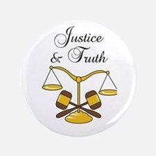 "SCALES JUSTICE AND TRUTH 3.5"" Button"