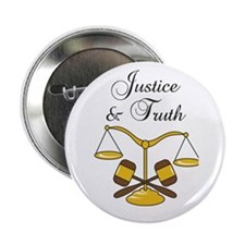 "SCALES JUSTICE AND TRUTH 2.25"" Button (100 pack)"