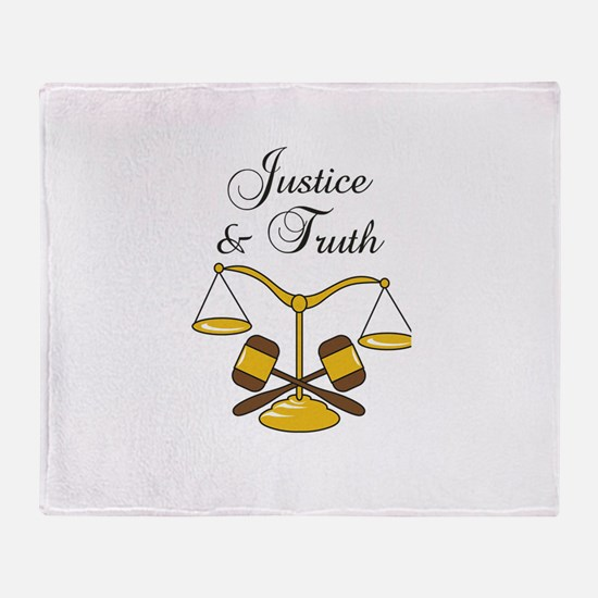 SCALES JUSTICE AND TRUTH Throw Blanket