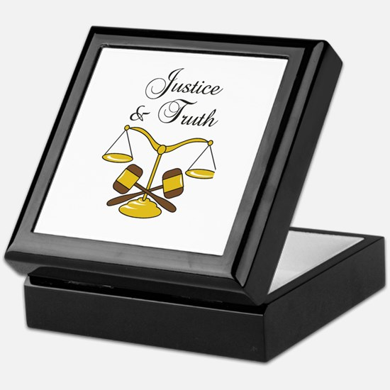 SCALES JUSTICE AND TRUTH Keepsake Box