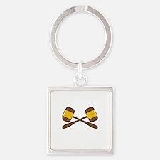 CROSSED GAVELS Keychains
