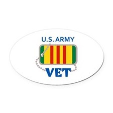 U S ARMY VET Oval Car Magnet